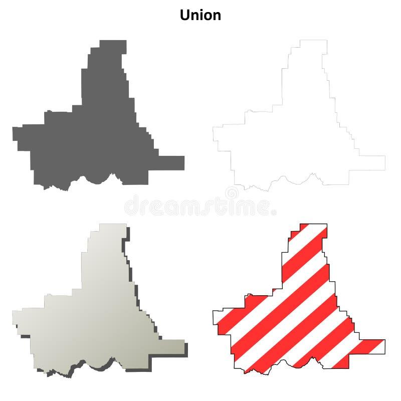 Σύνολο χαρτών περιλήψεων κομητειών ένωσης, Όρεγκον απεικόνιση αποθεμάτων
