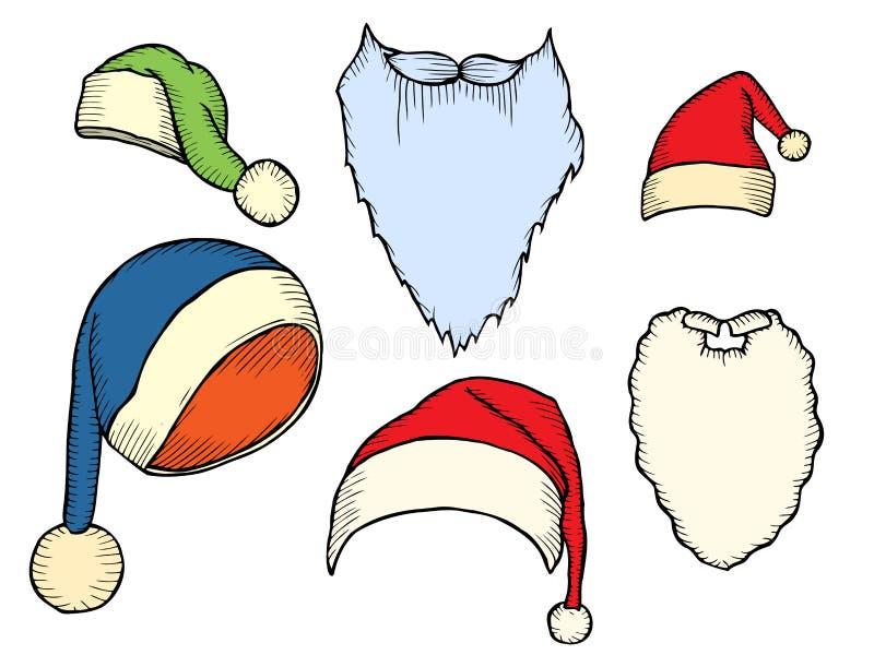 Σύνολο χειμερινών μαντίλι και καλυμμάτων ελεύθερη απεικόνιση δικαιώματος