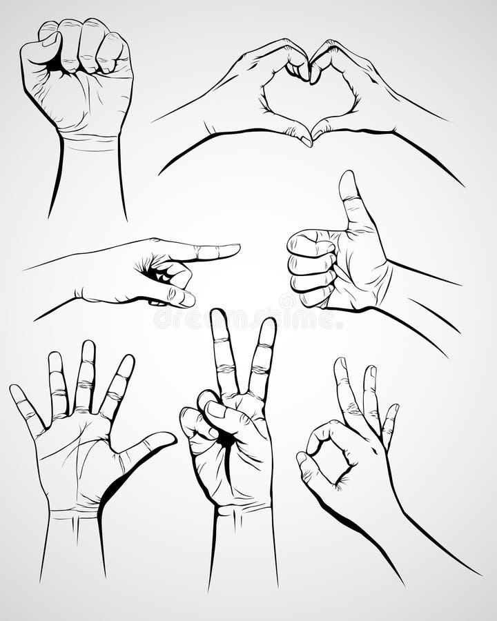σύνολο χεριών ελεύθερη απεικόνιση δικαιώματος