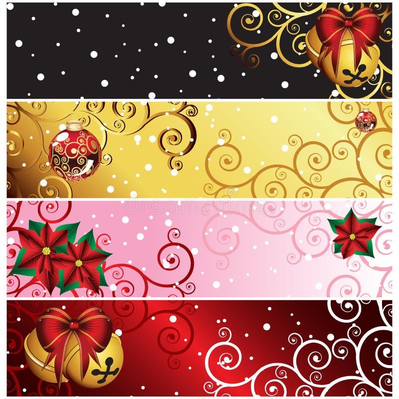 σύνολο Χριστουγέννων εμ&be διανυσματική απεικόνιση