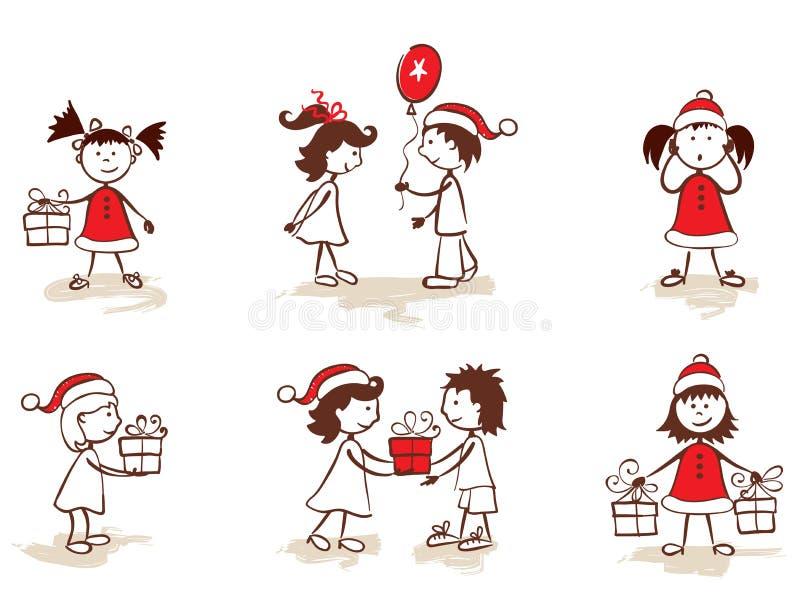 σύνολο Χριστουγέννων παι ελεύθερη απεικόνιση δικαιώματος