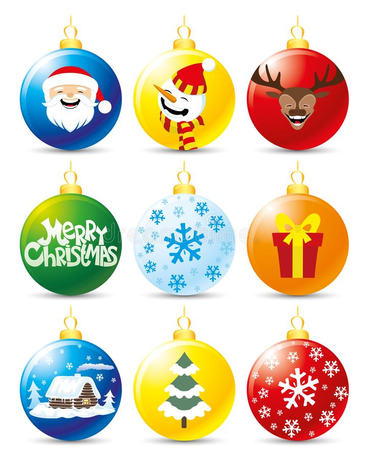 σύνολο Χριστουγέννων σφ&alph διανυσματική απεικόνιση