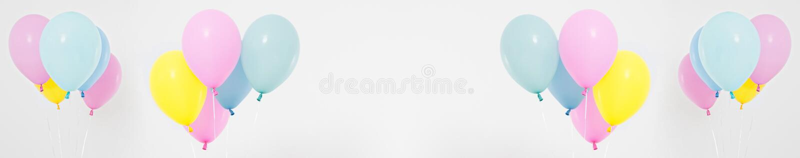 Σύνολο, χρωματισμένο κολάζ υπόβαθρο μπαλονιών Εορτασμός, διακοπές, θερινή έννοια Πρότυπο σχεδίου, πίνακας διαφημίσεων ή κενό εμβλ στοκ εικόνα