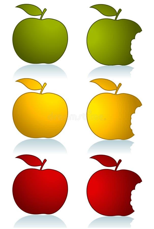 σύνολο χρώματος μήλων διανυσματική απεικόνιση