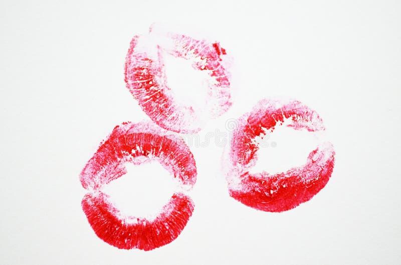 Σύνολο όμορφων κόκκινων χειλιών στοκ εικόνα