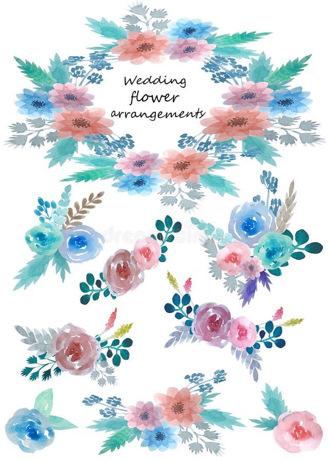 Σύνολο floral ρυθμίσεων στοκ εικόνες με δικαίωμα ελεύθερης χρήσης