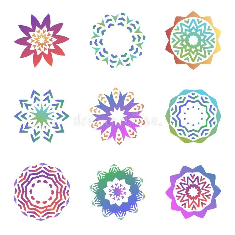 Σύνολο minimalistic καθιερωνουσών τη μόδα μορφών Δημιουργικά εμβλήματα λογότυπων για το σχέδιο Απλή γεωμετρική συλλογή συμβόλων m ελεύθερη απεικόνιση δικαιώματος