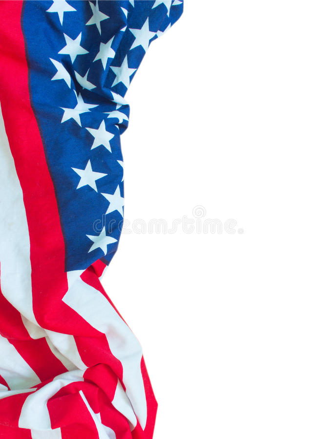 Σύνορα αμερικανικών σημαιών που απομονώνονται στοκ φωτογραφίες