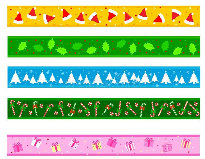 Σύνορα/διαιρέτης Χριστουγέννων ελεύθερη απεικόνιση δικαιώματος