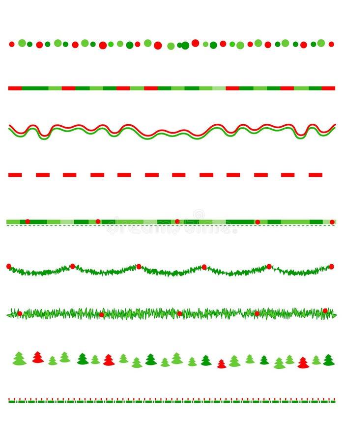 Σύνορα/διαιρέτης Χριστουγέννων διανυσματική απεικόνιση