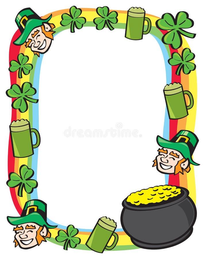 Σύνορα ημέρας Αγίου Patricks ελεύθερη απεικόνιση δικαιώματος