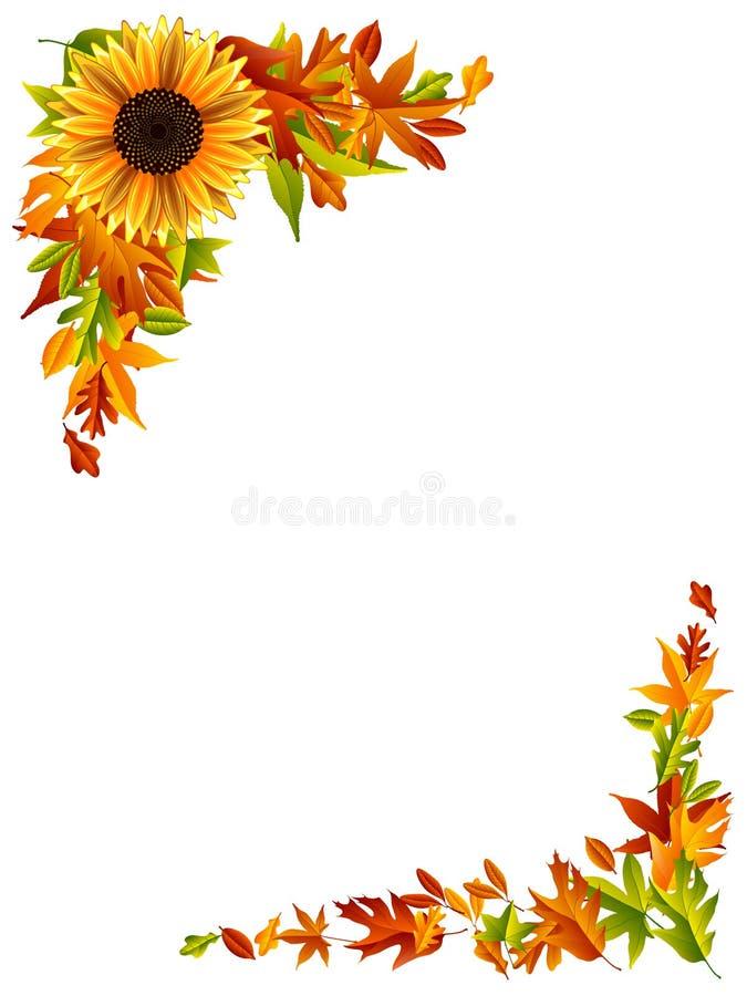 Σύνορα ημέρας των ευχαριστιών ελεύθερη απεικόνιση δικαιώματος