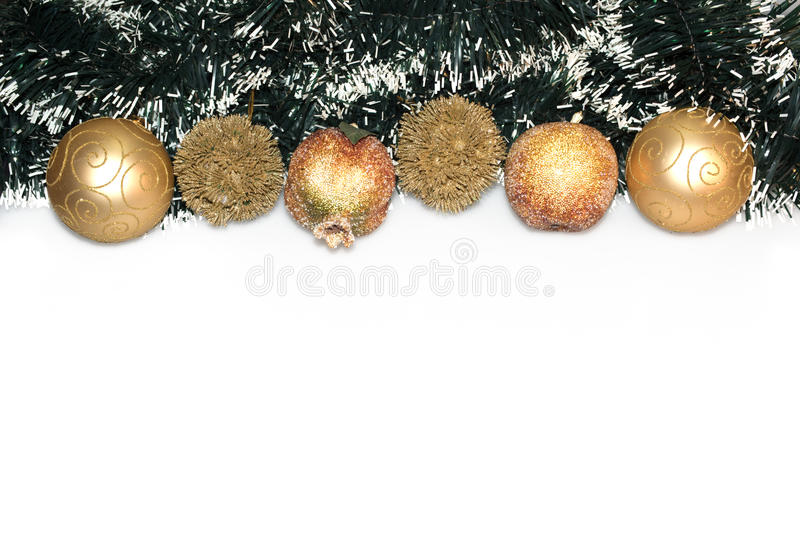 Download Σύνορα διακοσμήσεων Χριστουγέννων που απομονώνονται στο άσπρο υπόβαθρο Στοκ Εικόνα - εικόνα από ανασκόπησης, διακλαδιμένος: 62722093