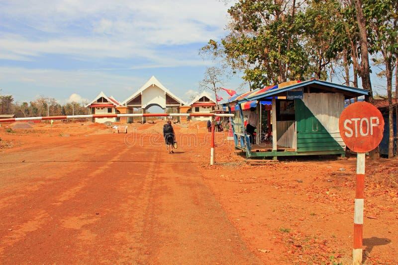 σύνορα Καμπότζη Λάος στοκ εικόνες