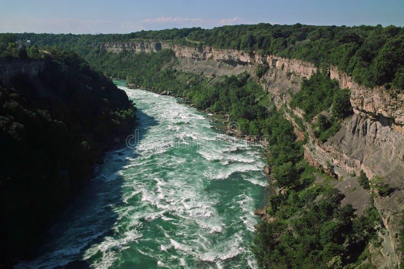 Σύνορα Καναδάς ΗΠΑ ποταμών Niagara στοκ εικόνες