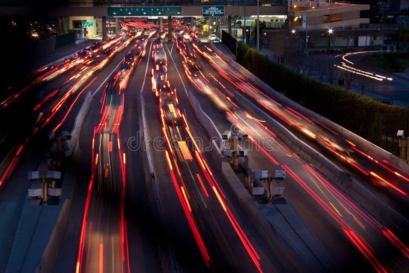 Σύνορα μεταξύ των ΗΠΑ και του Μεξικού σε Tijuana τη νύχτα στοκ εικόνα με δικαίωμα ελεύθερης χρήσης