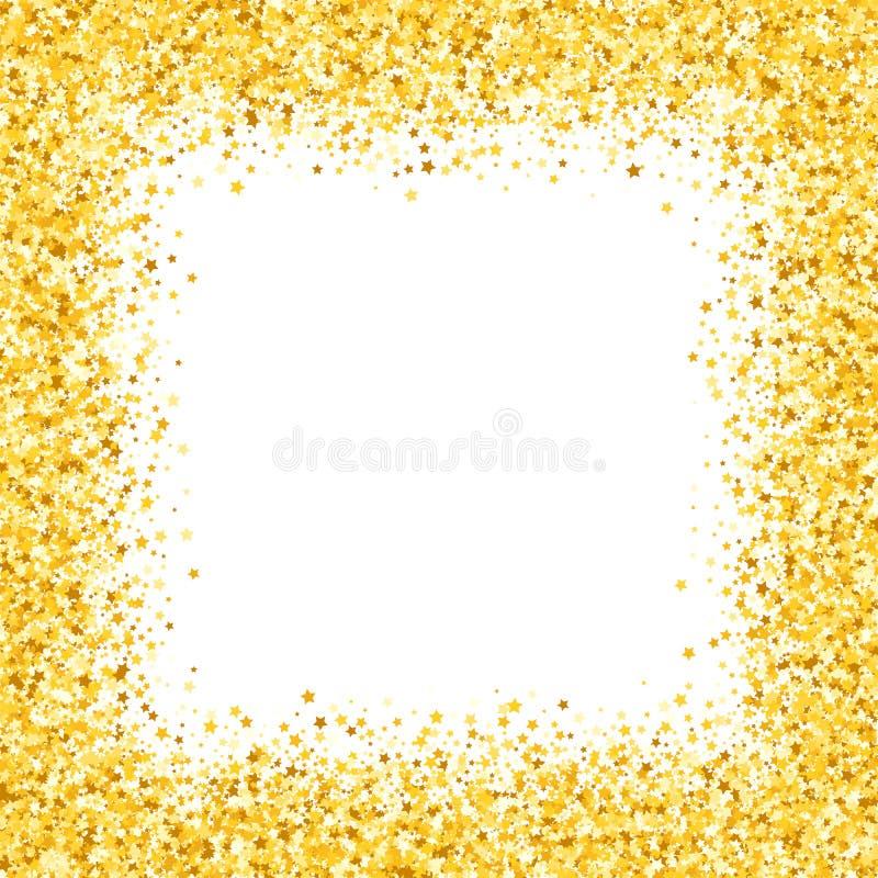 Σύνορα με shimmer Ευχετήρια κάρτα με τα αστέρια ελεύθερη απεικόνιση δικαιώματος