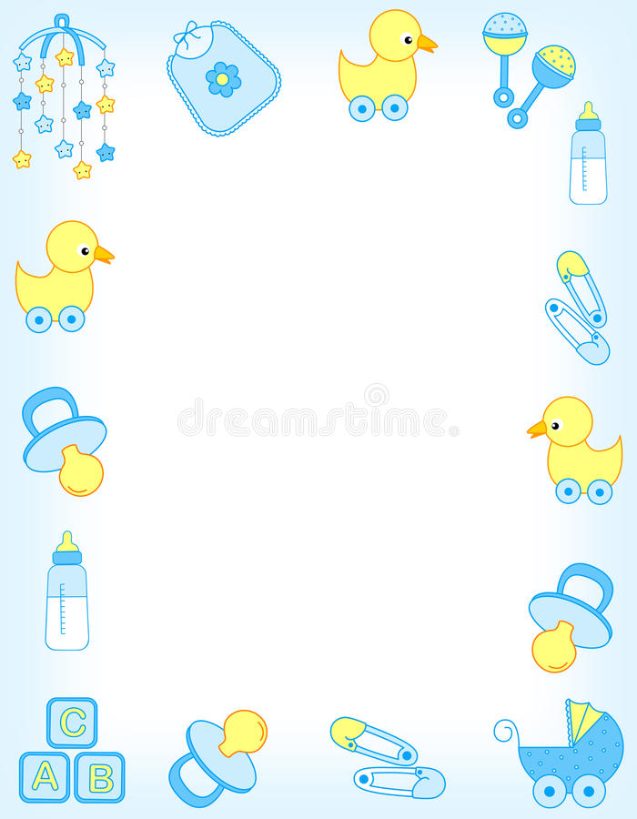 σύνορα μωρών διανυσματική απεικόνιση