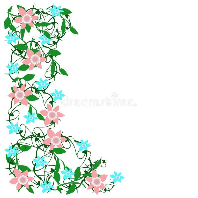 Σύνορα λουλουδιών άνοιξη ελεύθερη απεικόνιση δικαιώματος