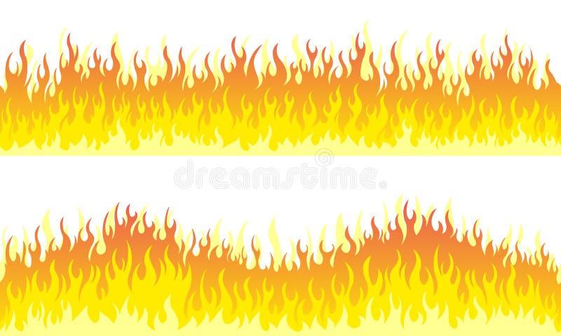 Σύνορα πλαισίων φλογών πυρκαγιάς ελεύθερη απεικόνιση δικαιώματος