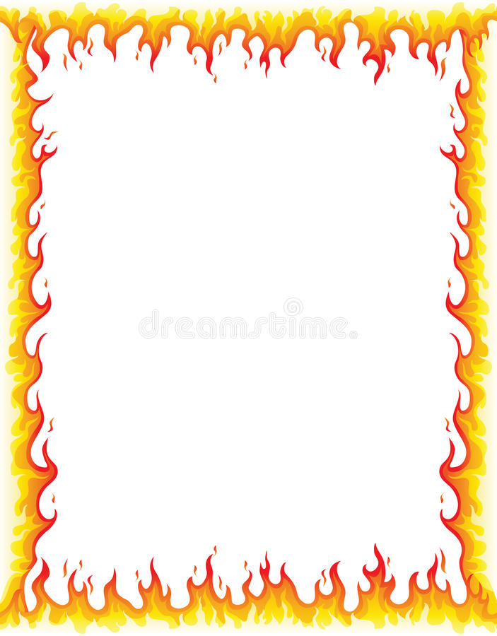 Σύνορα πυρκαγιάς ελεύθερη απεικόνιση δικαιώματος