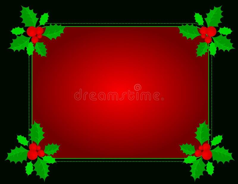 Σύνορα Χριστουγέννων ελεύθερη απεικόνιση δικαιώματος