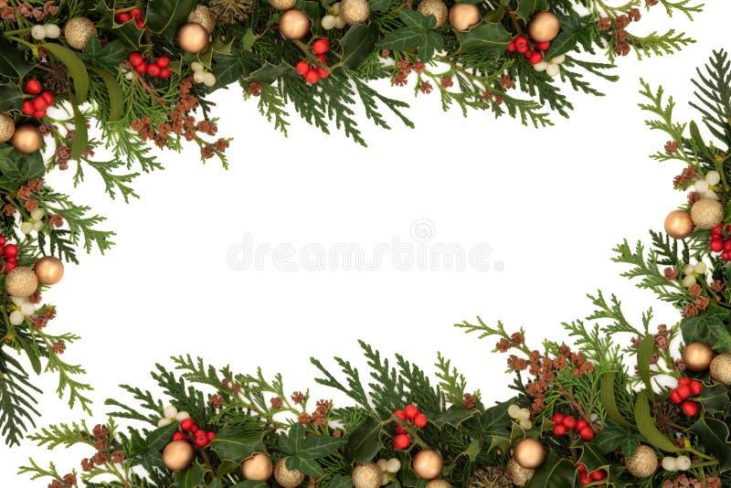 Σύνορα Χριστουγέννων στοκ φωτογραφίες με δικαίωμα ελεύθερης χρήσης