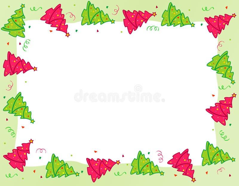 Σύνορα χριστουγεννιάτικων δέντρων ελεύθερη απεικόνιση δικαιώματος