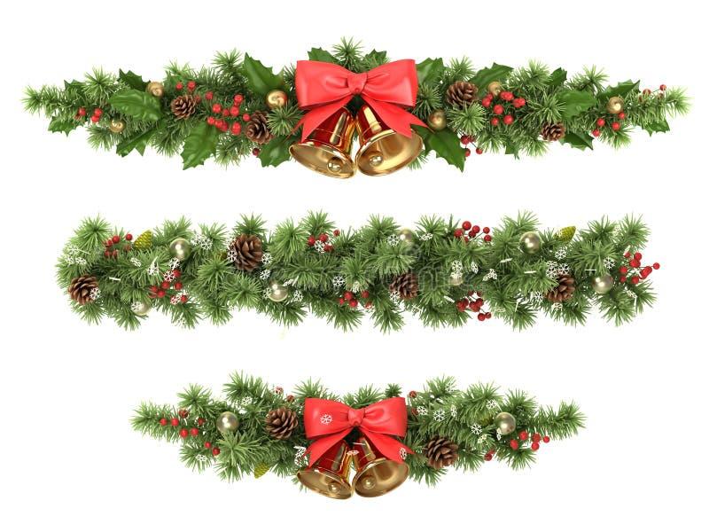 Σύνορα χριστουγεννιάτικων δέντρων. ελεύθερη απεικόνιση δικαιώματος
