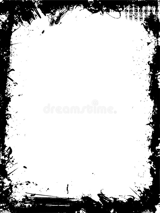 σύνορα grunge διανυσματική απεικόνιση