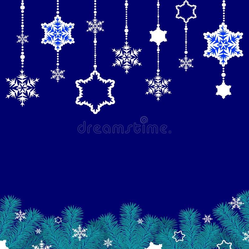 Download Σύνορα snowflakes διανυσματική απεικόνιση. εικονογραφία από βακκινίων - 62715538