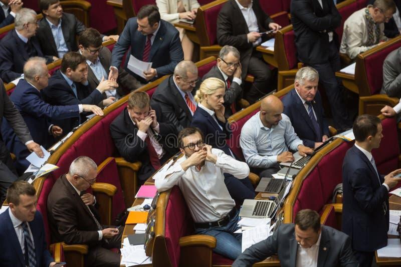 Σύνοδος του Verkhovna Rada της Ουκρανίας στοκ εικόνες