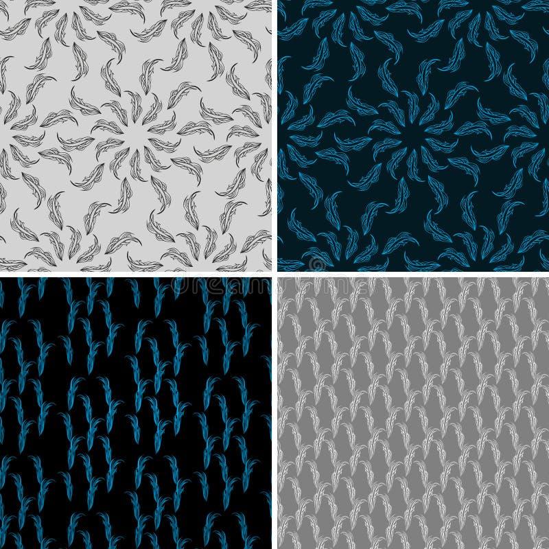Σύνολο άνευ ραφής αφηρημένου υποβάθρου τέσσερα. διανυσματική απεικόνιση