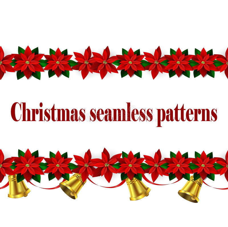 Σύνολο άνευ ραφής συνόρων Χριστουγέννων ν ελεύθερη απεικόνιση δικαιώματος