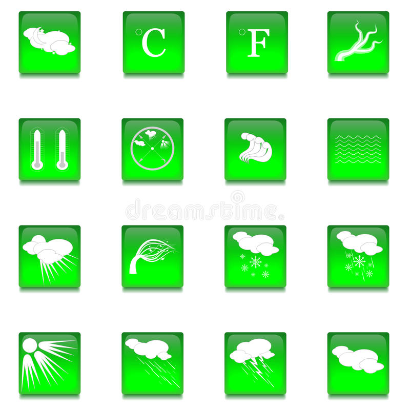 Σύνολο δέκα έξι κουμπιών γυαλιού απεικόνιση αποθεμάτων