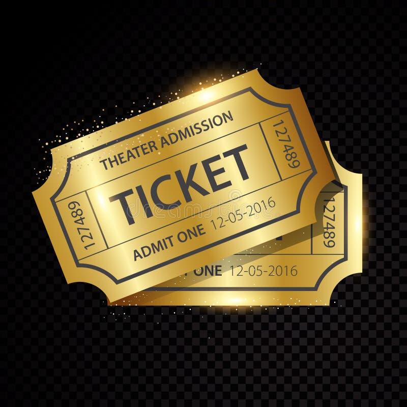 Σύνολο ένδεκα διανυσματικών εισιτηρίων και προτύπων δελτίων ελεύθερη απεικόνιση δικαιώματος