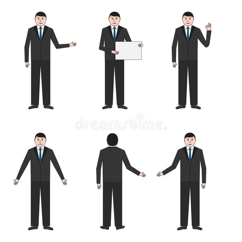 Σύνολο έξι επιχειρηματιών απεικόνιση αποθεμάτων