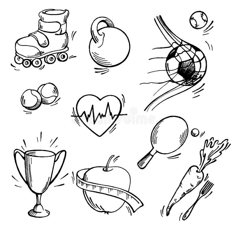 Σύνολο αθλητικού εικονιδίου διανυσματική απεικόνιση