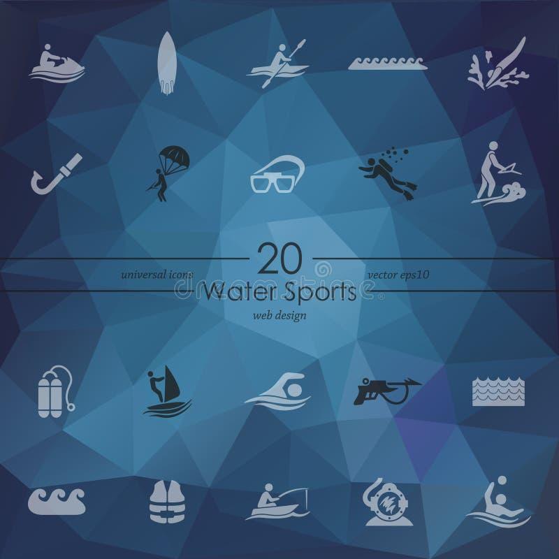 Σύνολο αθλητικών εικονιδίων νερού απεικόνιση αποθεμάτων