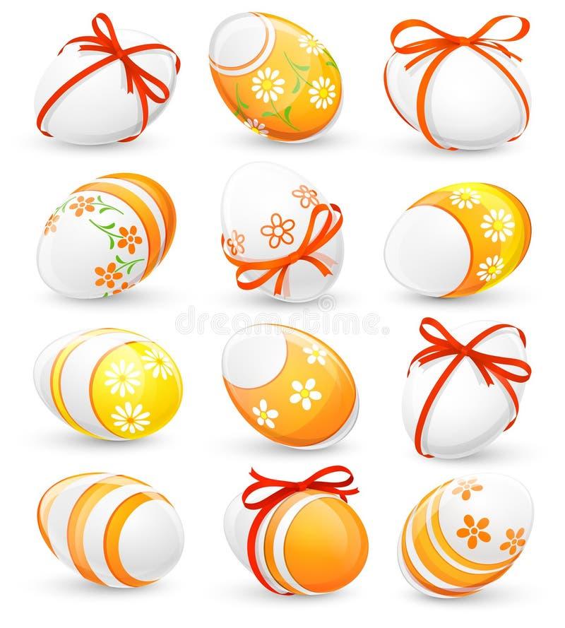 Σύνολο αυγών Πάσχας διανυσματική απεικόνιση