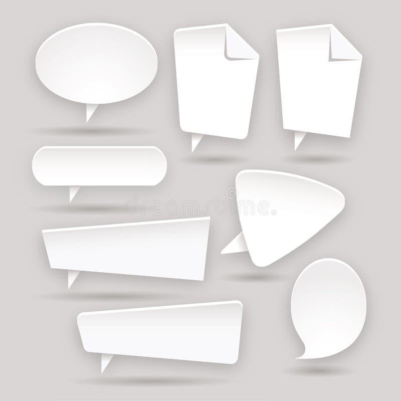 Σύνολο αυτοκόλλητων ετικεττών χρώματος Ιστού - ετικέτες - ετικέττες - φυσαλίδα απεικόνιση αποθεμάτων