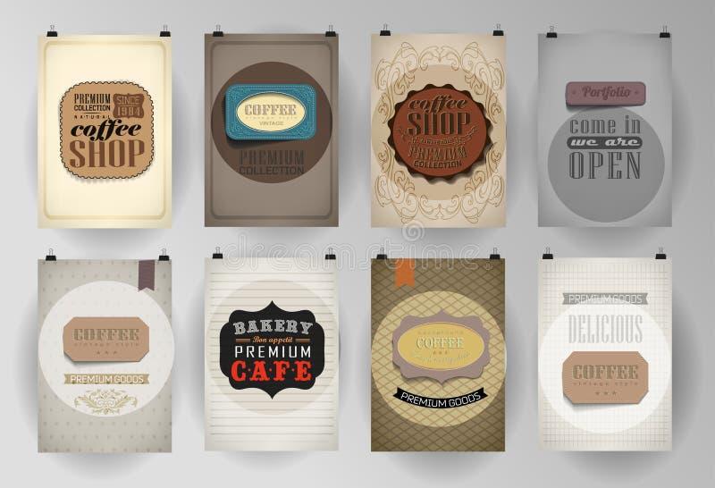 Σύνολο αφίσας, ιπτάμενο, πρότυπα σχεδίου φυλλάδιων απεικόνιση αποθεμάτων