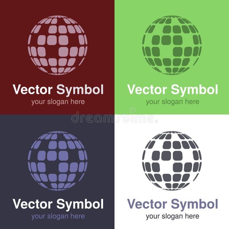 Σύνολο αφηρημένου πράσινου, κόκκινου, μπλε και μαύρου άσπρου σχεδίου σφαιρών λογότυπων, εμβλήματα για τη σύνδεση στο Διαδίκτυο ή  ελεύθερη απεικόνιση δικαιώματος