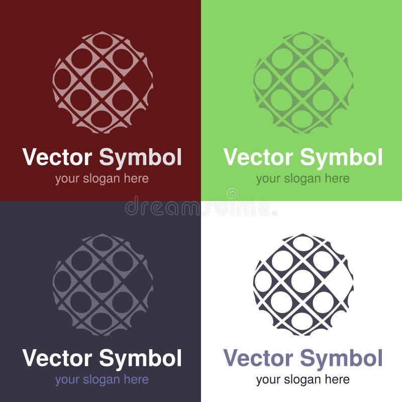 Σύνολο αφηρημένου πράσινου, κόκκινου, μπλε και μαύρου άσπρου σχεδίου λογότυπων της σφαίρας, εμβλήματα για τη σύνδεση στο Διαδίκτυ απεικόνιση αποθεμάτων