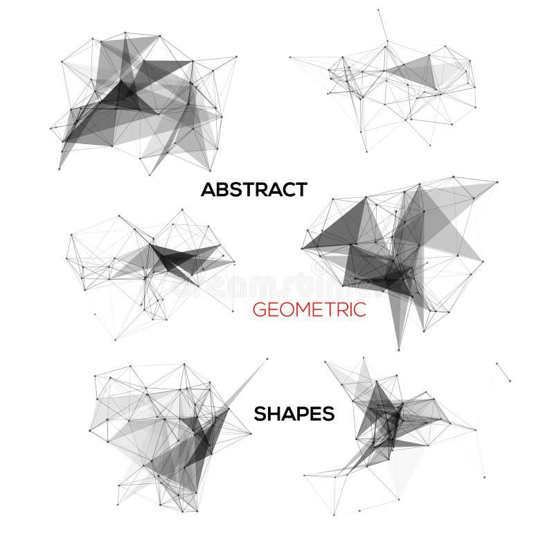Σύνολο αφηρημένων διανυσματικών γεωμετρικών μορφών ελεύθερη απεικόνιση δικαιώματος