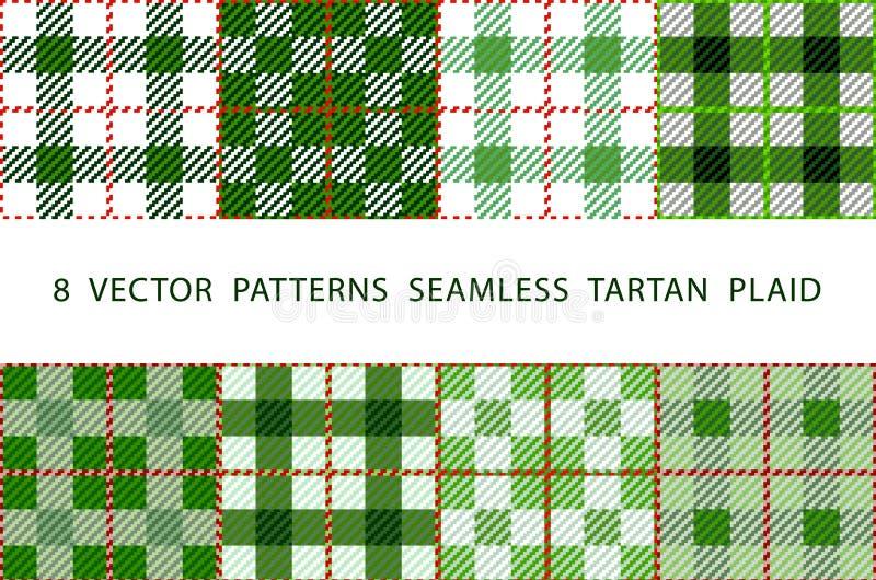 Σύνολο 8 αφηρημένων μοντέρνων γεωμετρικών άνευ ραφής σχεδίων με την κελτική διακόσμηση του πράσινου, μαύρου, και άσπρου ΚΑΡΌ ΤΑΡΤ απεικόνιση αποθεμάτων