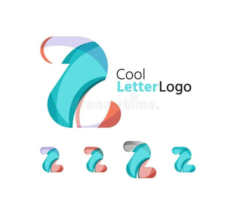 Σύνολο αφηρημένων λογότυπων επιχείρησης επιστολών Ζ Επιχείρηση απεικόνιση αποθεμάτων