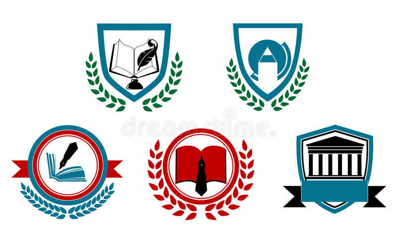 Σύνολο αφηρημένου πανεπιστημίου διανυσματική απεικόνιση