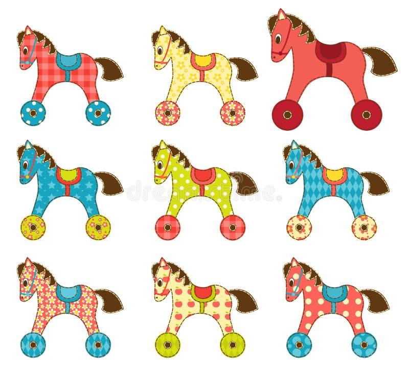 Σύνολο αλόγων 8 προσθηκών. διανυσματική απεικόνιση