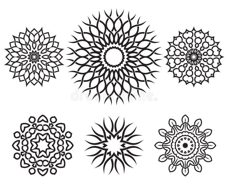 Σύνολο γεωμετρικών στοιχείων σχεδίου κόμβων ελεύθερη απεικόνιση δικαιώματος